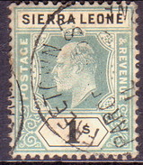 SIERRA LEONE 1905 SG #95 1sh Used Wmk Mult.Crown CA Tooth Pulled At Left - Sierra Leone (...-1960)