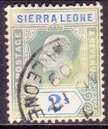 SIERRA LEONE 1905 SG #96 2sh Used Wmk Mult.Crown CA CV £38 Discoloured - Sierra Leone (...-1960)