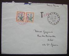 Saint Girons 1965 Lettre Taxée Avec Chaîne Pour Lourdes, Voir Photos - Postage Due Covers