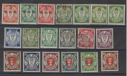 Dantzig - Timb.Allemagne Surch. ._  Série  N °201 /214 ( 1934 ) - Danzig