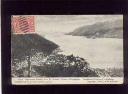 Castineaux Channel From Mt Juneau édit. Case & Draper  En 1907 Alaska , Stamp Cachet Douglas Alaska 1909 - Juneau