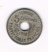 I TUNESIE 5 CENTIMES  1918 ( 1337 ) - Tunisie