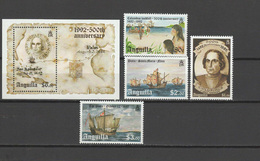 Anguilla 1992 Christopher Columbus, Ships, 500th Anniversary Of Discovery Of America Set Of 4 + S/s MNH - Christoffel Columbus