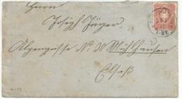A479 - HERBOLSHEIM - 1877 - Pour MULHAUSEN Elsass - Verso Hufeisenstempel MULHAUSEN I ELSASS - - Germany