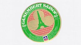 Etiquette Fromage Camembert - SAISOF (Tour Eiffel) - EXPORT - 50% NORMANDIE -  250GR Neuve - Cheese