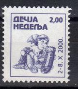 Yugoslavia,Children's Week 2000.,MNH - 1992-2003 République Fédérale De Yougoslavie