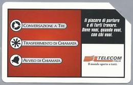 IT.- SCHEDA TELEFONICA. TELECOM ITALIA LIRE 5.000. Scegli Tre Servizi Al Prezzo Di Due. 2 Scans - Italië