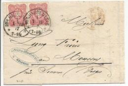 A481 - MULHAUSEN Haut Rhin - 1877 - Pour MOUSSEY Vosges - - Alsace-Lorraine