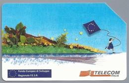 IT.- SCHEDA TELEFONICA. TELECOM ITALIA LIRE 5.000. Fondo Europeo Di Sviluppo Regionale F.E.S.R... 2 Scans - Italië