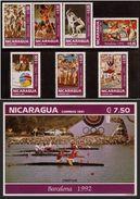 NICARAGUA 1992 - OLYMPICS BARCELONA 92 - YVERT Nº 1687-1693 + HB 212** - MICHEL 3150-3156  - SCOTT 1926-1932 + SS 1923 - Nicaragua