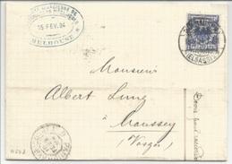A508 - MULHAUSEN Haut Rhin - 1894 - Pour MOUSSEY Vosges - - Alsace-Lorraine