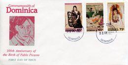 DOMINICA -  1981 The 100th Anniversary Of The Birth Of Pablo Picasso, 1881-1973   FDC1646 - Dominica (1978-...)