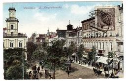 WARSAW - VARSOVIE - WARSZAWA - Ul. Marszalkowska. - Carte Colorisée - Pologne
