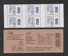FRANCE / 2016 / Y&T N° AA 1216A ** : Ciappa TVP Europe En Carnet (SANS GRAMMAGE) X 6 = Carnet Sans Date - état D'origine - Carnets