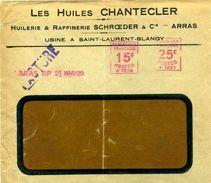 France EMA Havas Machine A 1929 Arras - Marcophilie (Lettres)