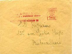 France EMA Machine à Affranchir Havas A 71015F 1956 PONTOISE - Marcophilie (Lettres)