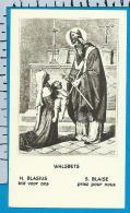 Holycard    Belgica Sacra    St.   Blasius   Walsbets - Devotieprenten