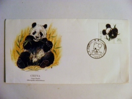 Cover From China 1985 Special Cancel Panda - Lettres & Documents