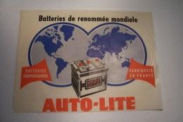 "AUTOMOBILE  - PUBLICITE - Batteries  "" AUTO - LITE "" - Pubblicitari"