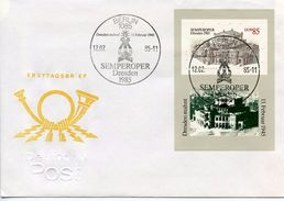 GERMANY DDR  -  1985 The Re-opening Of The Semper Opera In Dresden   FDC1657 - [6] Democratic Republic