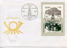 GERMANY DDR  -  1985 The Re-opening Of The Semper Opera In Dresden   FDC1657 - [6] Repubblica Democratica