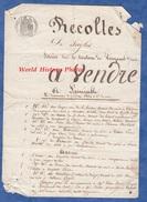 Document Ancien De 1864 - VESIGNEUL Sur COOLE ( Marne ) - Récoltes De Seigles à Vendre - Agriculture - Faux - Documents Historiques