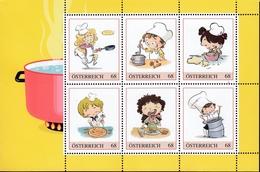 ÖSTERREICH 2017 ** KINDER KOCHEN - PM Personalized Stamp - Ernährung