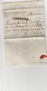 Lettre Envoyée De Clermont En 1780 à Destination Du Comte Delaistrer ? Au Château De Colombelle Près De Caen ( 14 ) Rare - Postmark Collection (Covers)