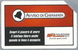 IT.- SCHEDA TELEFONICA. TELECOM ITALIA LIRE 5.000. € 2.58. AVISSO DI CHIAMATA.  2 Scans - Italië
