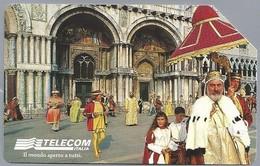 IT.- SCHEDA TELEFONICA. TELECOM ITALIA LIRE 10.000. Il Mondo Aperto A Tutti. Palio Della Marinare. Venezia ....  2 Scans - Italië
