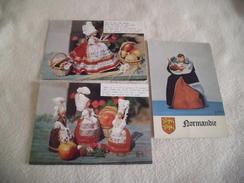 LOT DE 3 CARTES ....POUPEES NORMANDES - Kostums