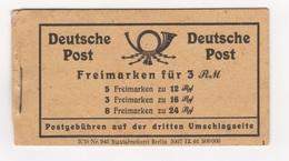 Allierte Besetzung (Gemeinschaftsausgaben) / Ziffernserie  /  MiNr.: 50 H-Blatt 123, 124 (Markenheftchen) - Gemeinschaftsausgaben