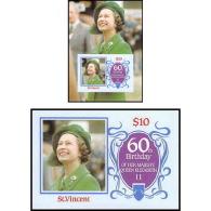 914a Saint Vincent ( St Vincent ) MNH ** 1986 Queen Mother Elizabeth Bloc + Non Dentelé (imperforate) - St.Vincent (1979-...)