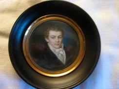 Miniature 1ère Moitié Du XIXème Siècle - Portrait D'homme - Autres Collections