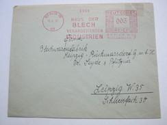 1937  ,  Berlin   , Glasklarer Firmen - Freistempel  Auf   Brief - Allemagne