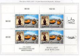 """PIA - AUST - 1999 : """"WIPA 2000"""" - Esposizione Filatelica Internazionale A Vienna - Minifoglio -  (Yv 2121 X 4) - 1945-.... 2a Repubblica"""