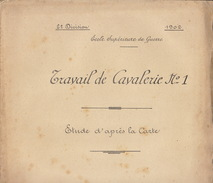 Document Cours De L'école Supérieur De Guerre Travail De Cavalerie 5èm Division Dommartin Menehould 1902 Par Bourderiat - Documenten