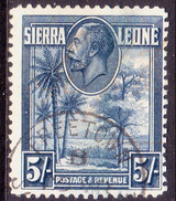 SIERRA LEONE 1932 SG #165 5sh Used CV £27 - Sierra Leone (...-1960)