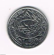 I VATICAANSTAD  50 LIRE  1975 ( HOLY YEAR ) - Vatican