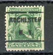 USA : -  PREOBLITERE - N° Yvert 144 SURCH ROCHESTER N.Y.   (*) - Vorausentwertungen