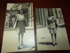 A1886  2 Foto Torino Donna In Primo Piano Cm13,5x9 E 15.5x9 Presenza Alcune Pieghine - Fotografia