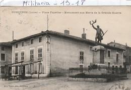 Militaria : Monument Aux Morts   ( BUSSIERES - Loire  - Place Foyatier) - Monumenti Ai Caduti