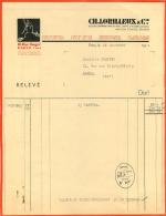 FACTURE 1934 CH. LORILLEUX ET CIE 16 RUE SUGER PARIS VI - France