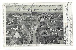 18473 - Augsburg Blick Vom Perlachturm Auf Dem Dom U. Karolinenstrasse (attention Coin Cassé) - Augsburg