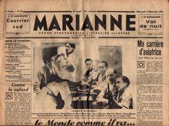 Journal MARIANNE Du Mercredi 16.12.1933 - 2ème Année N°59 - Caricatures, Pub & Propagande Nazi Pour Hitler ! 16 Pages - Journaux - Quotidiens