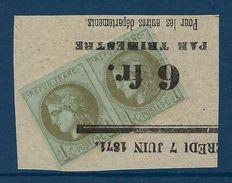 Emission De Bordeaux , France Classiques N° 39 C A ( R3 ) Typo ( TTB ) - 1870 Bordeaux Printing