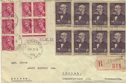 1939- Enveloppe RECC.  Du Croisic ( Loire Mar. ) SUPERBE Affr.  Dont Blos De Huit Gambetta Pour Zürich - 1921-1960: Moderne