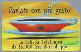 IT.- SCHEDA TELEFONICA. TELECOM ITALIA LIRE 10.000. Parlate Con Piu Gusto. La Scheda Telefonica Da .....  2 Scans - Italië