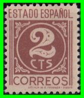 ESPAÑA 1937-40 CIFRAS, CID E ISABEL 2 CÉNTIMO ROJO Y CASTAÑO Rjo. - 1931-Aujourd'hui: II. République - ....Juan Carlos I