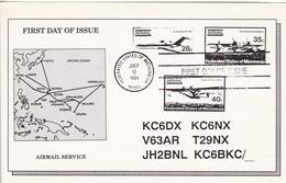 KC6DX MICRONESIA CIRCA 1991 QSL CARD  RADIOAFICIONADOS/RADIO HAM TBE-BLEUP - Radio Amateur